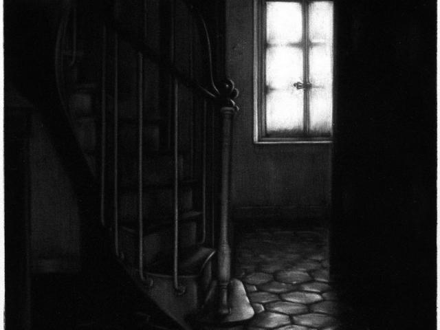 maison de Mallarmé - manière noire 20 x 20cm