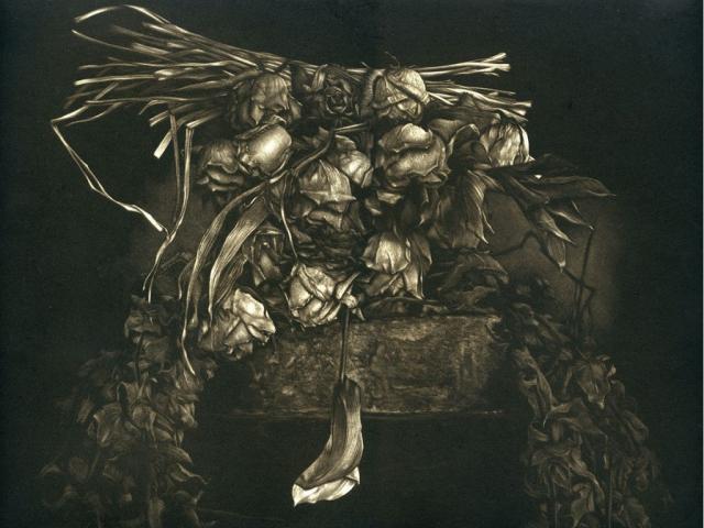 Ce Que Vivent Les Roses - mainère noire 30 x 40 cm