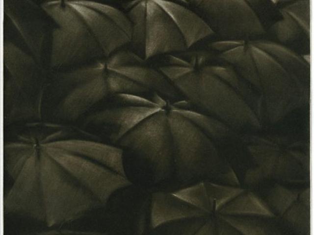 Caché - manière noire  50 x 25 cm