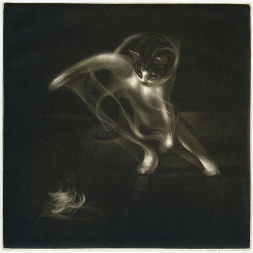 Le Patteballeur, maniere noire 20 x 20 cm